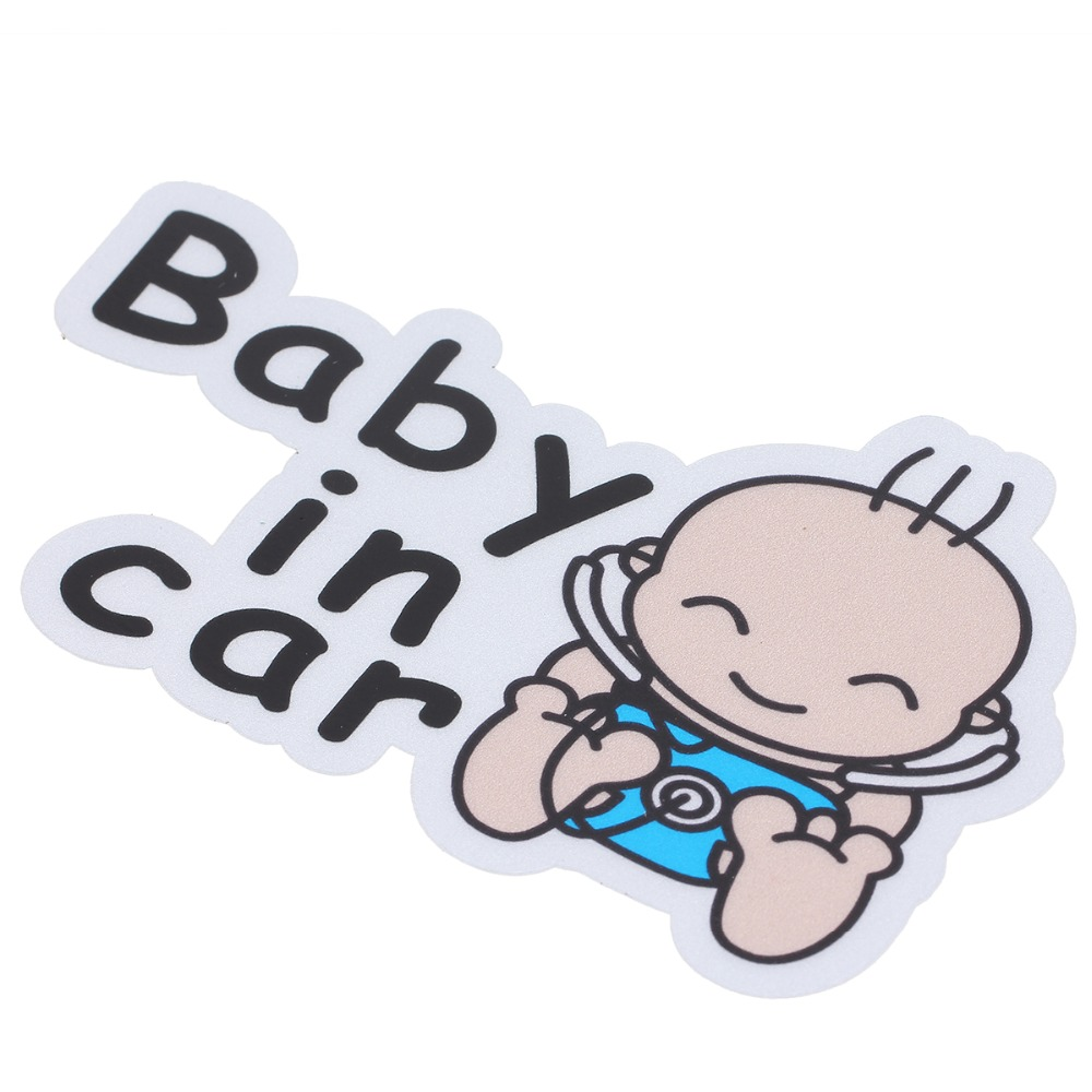POSSBAY Reflective  Baby In Car  Car Back Front Side Sticker Safety Sign Car Window Door Decal Auto Stickers