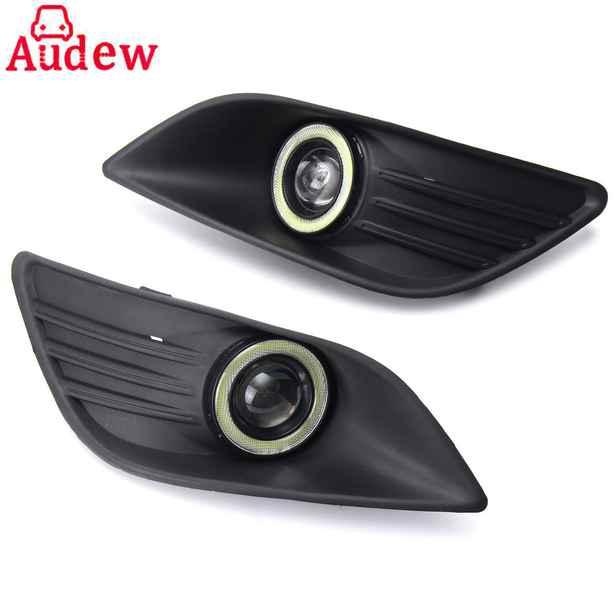 Pair Car Auto Fog Light  Front Bumper Angel Eyes Driving Light For Ford/Focus 2009-2010 12v 55w car fog light assembly for ford focus hatchback 2009 2010 2011 front fog light lamp with harness relay fog light