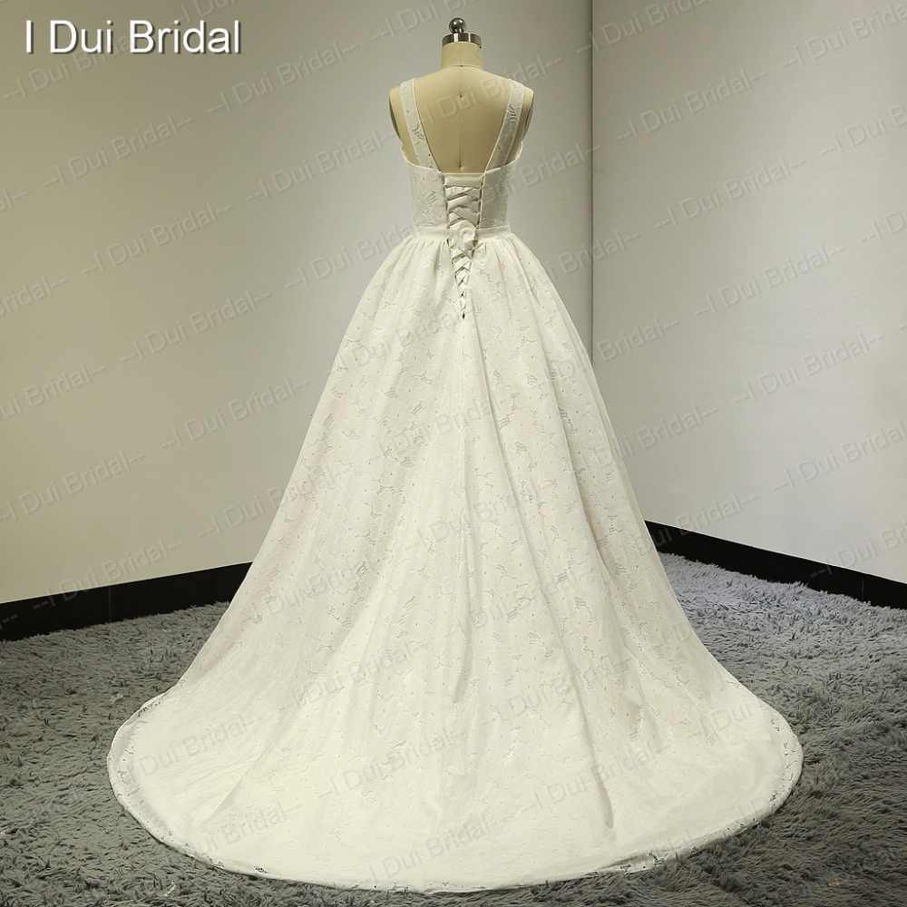 Lace Real Photo Wedding Dresses Factory Custom Made High Quality ELS-018
