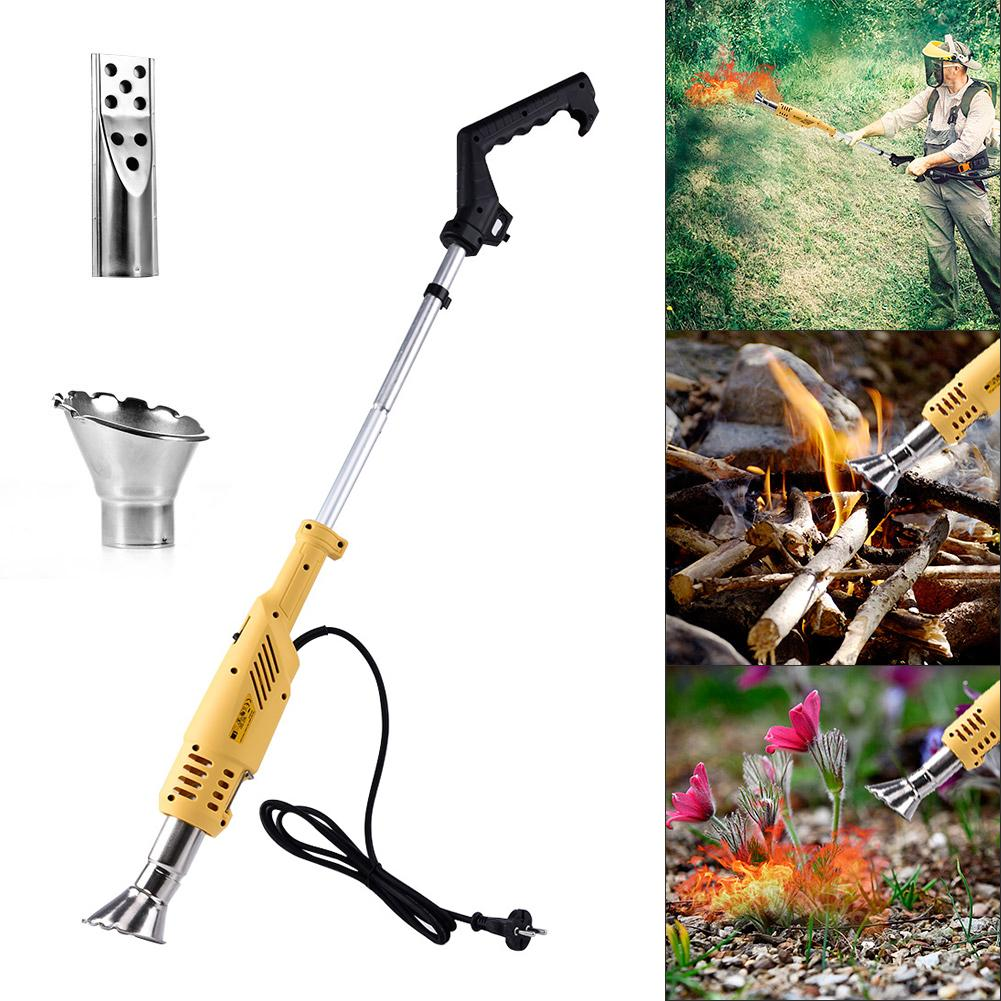 Small Electric Weed Burner Home Lawn Mower 2000W 3-in-1 Multifunction Electric Garden Patio Grass Trimmer Thermal Weeding Stick