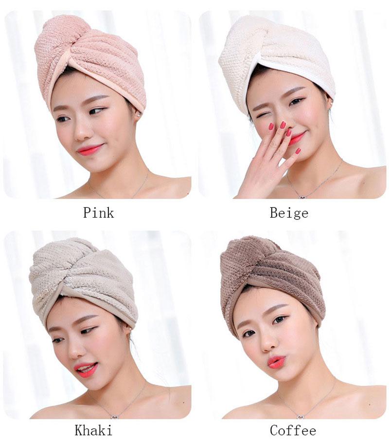 GIANTEX Japanese Polyester Cotton Women Bathroom Super Absorbent Quick-drying Bath Towel Hair Dry Cap Salon Towel 23x60cm U1031 4