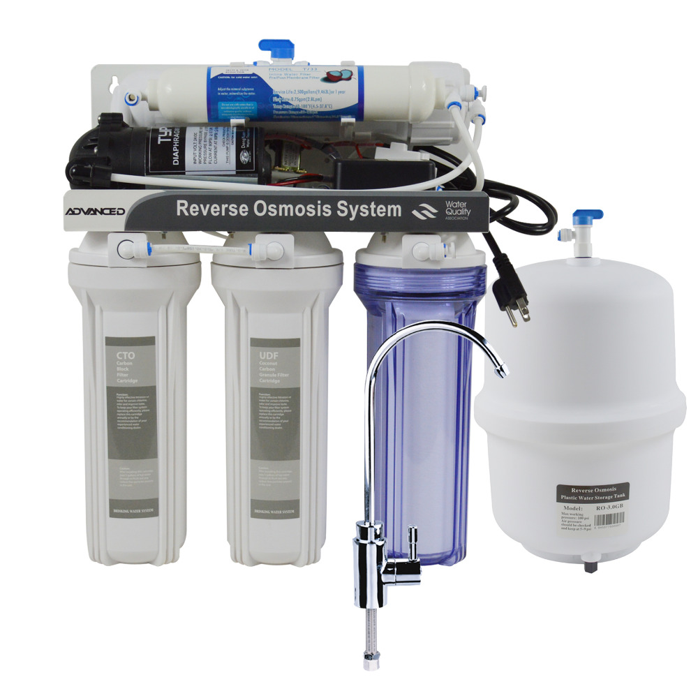 5 Stage Under-Sink Reverse Osmosis Drinking Water Filtration System-75GPD/Power 110 - 120V 5 stage undersink reverse osmosis drinking water filtration system 50gpd plus extra set of 4 supreme quality replacement filters