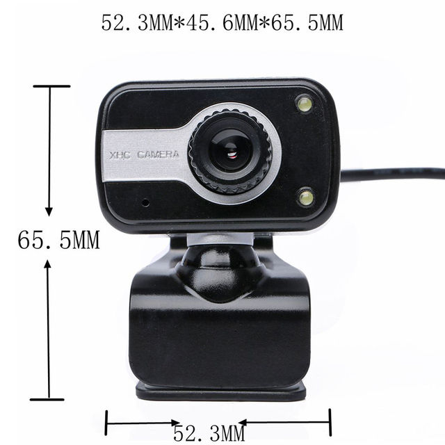 360 Degree Rotation USB Webcam 12M Pixels HD Clip-on Web Cam Camera With Microphone MIC for Computer Laptop PC High Quality 1