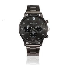 2017 Relogio Masculine Men Watch Fashion Men Crystal Stainless Steel Analog Quartz Wrist Watch Bracelet#MAY31