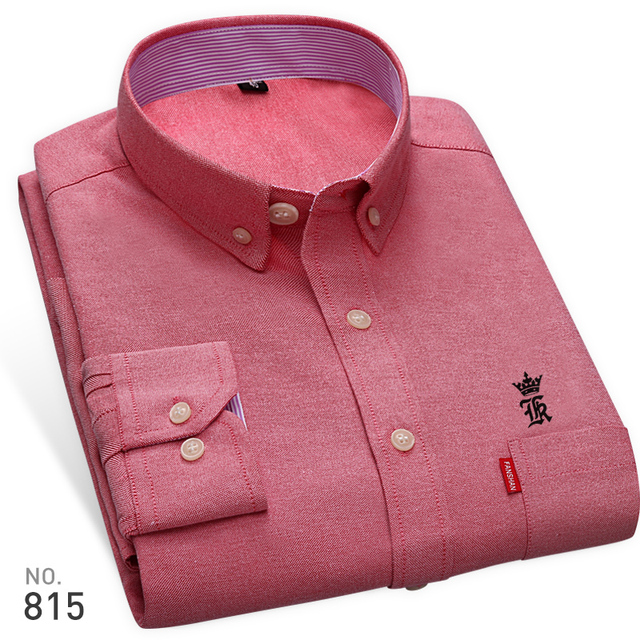 High Quality Sergio K New Arrived Oxford Mens Shirts Brand Embroidery Long Sleeve Solid Color Men Dress Shirts White Male Shirt