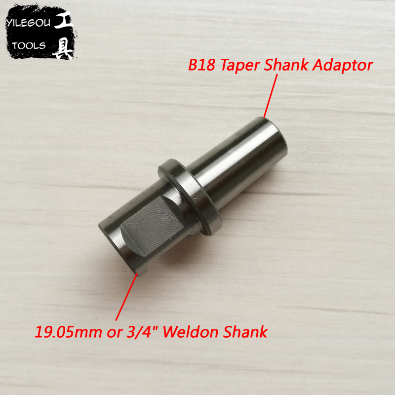 B18 Taper Shank Adaptor With Weldon Shank (19.05mm Or 3/4