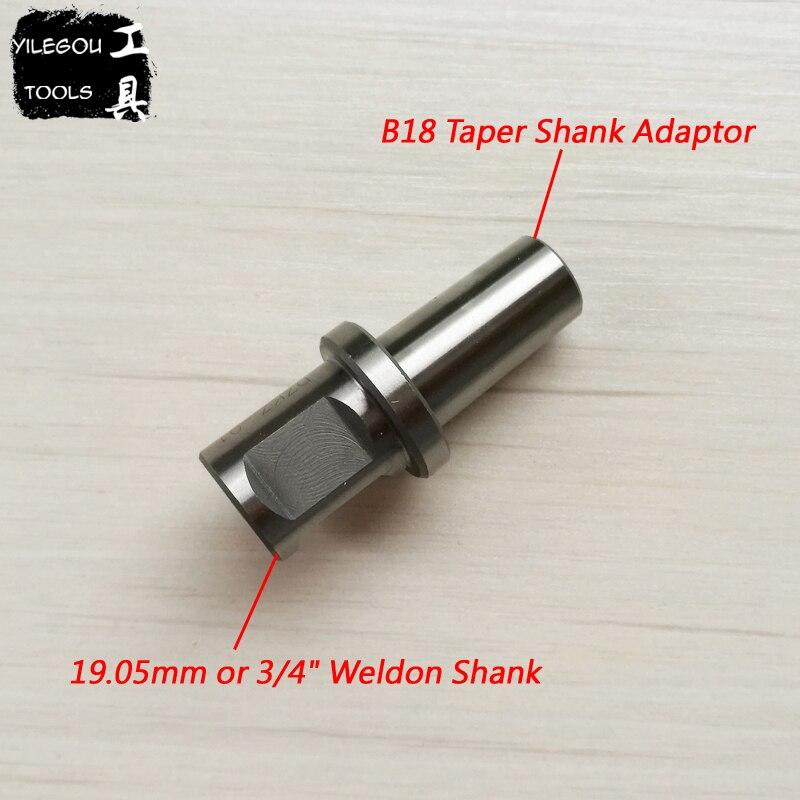 B18 Taper Shank Adaptor With Weldon Shank (19.05mm Or 3/4