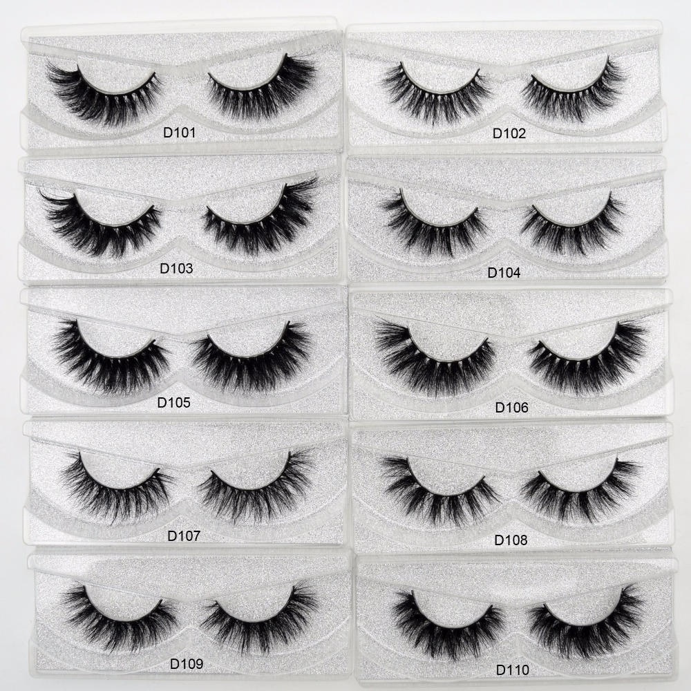 Free DHL 50 Pairs Eyelashes Dramatic Volume False Lashes Hand Made 3D Mink Lashes Mink Eyelashes makeup maquiagem Cils 53 Styles