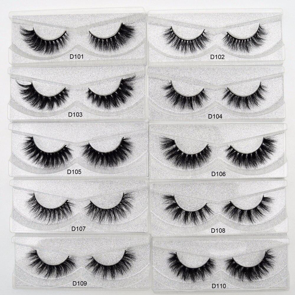 Free DHL 50 Pairs Eyelashes Dramatic Volume False Lashes Hand Made 3D Mink Lashes Mink Eyelashes makeup maquiagem Cils 53 Styles
