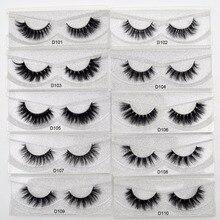 Free DHL 50 Pairs Eyelashes Dramatic Volume False Lashes Hand Made 3D Mink Lashes Mink Eyelashes makeup maquiagem Cils 62 Styles