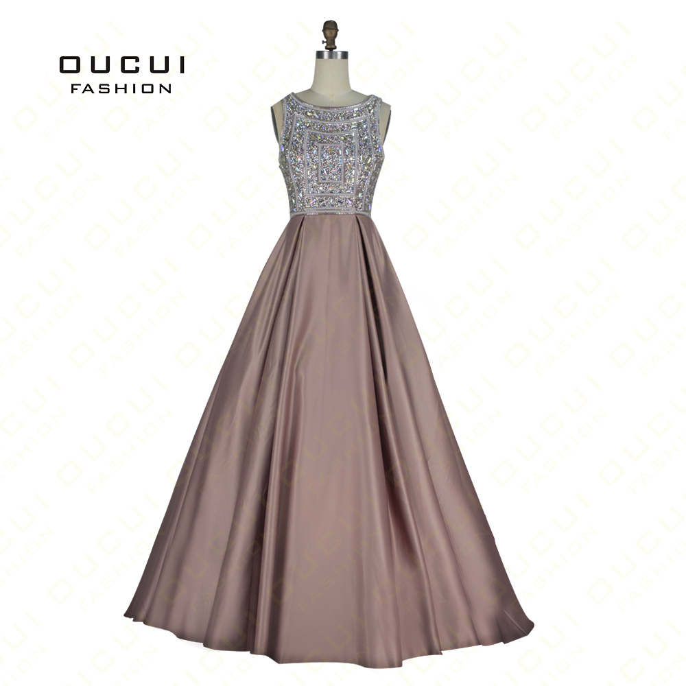 Real Photos Hand Made Crystal Evening Dresses 2019 Full Beaded Long Prom  Dress Cross Back Gowns For Women OL102932-in Evening Dresses from Weddings    Events ... 8b02d634b