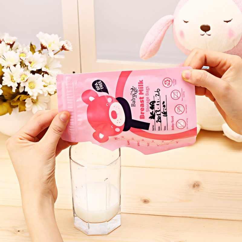 30 шт./лот детская груди молочный продукт мешок жидкого 250 мл., для хранения пищи сумки одноразового Применение груди контейнер для заморозки молока сумки