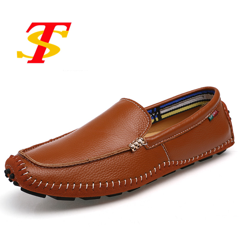 Men's Summer Leather Shoes Men Loafers Breathable Slip On Boat Shoes Flats Driving Casual Shoes Chaussure Homme Plus Size 38-47 big size 39 48 men flats summer genuine leather loafers breathable driving shoes moccasines slip on male casual shoes xk032808