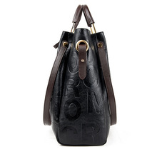YILIAN 2-piece Bags for Women 2018 New Ladies'  Leather Handbag Messenger Bags Big Capacity Single-shoulder Bag 6688
