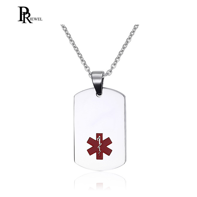3b9092a30098 Aliexpress.com : Buy Unisex Stainless Steel Medical Alert ID Dog tag  Pendant Men and Women Accept Customized DIY Free Engraving from Reliable  Pendants ...