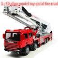Frete grátis! 2014 super cool! 1: 50 liga modelo de brinquedo caminhão de bombeiros aéreo taxiou para o brinquedo, brinquedos educacionais do bebê