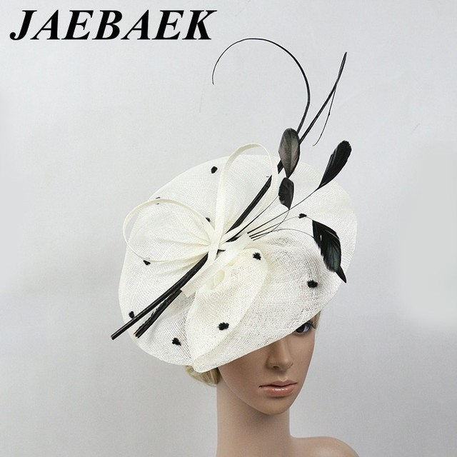 Handmade Feathers Floral Headband Fascinator Disc Millinery Cocktail Hat 23f02bbe992