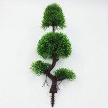 New Artificial Pine bonsai Bonsai Tree For Sale Floral Decor Simulation Flores Artificiais Desktop Display Of Bonsai Fake Plants