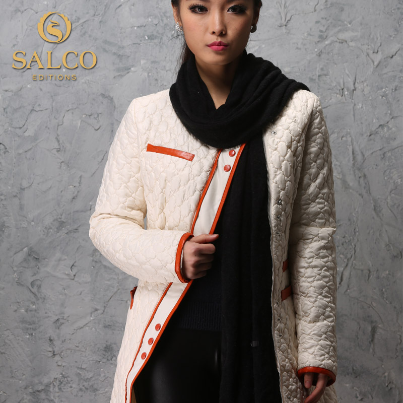 ФОТО SALCO Free shipping 2015 new Ms. long section of thin padded jacket