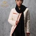 SALCO Frete grátis 2015 novo Ms. longa seção de fina jaqueta acolchoada