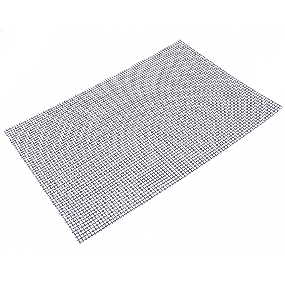 Non-stick Barbecue Grilling Mats High Security Grid Shape BBQ Mat with Heat Resistance 33x40cm For Outdoor Activities coffee table