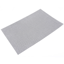 Non stick Barbecue Grilling Mats High Security Grid Shape BBQ Mat with Heat Resistance 33x40cm For Outdoor Activities