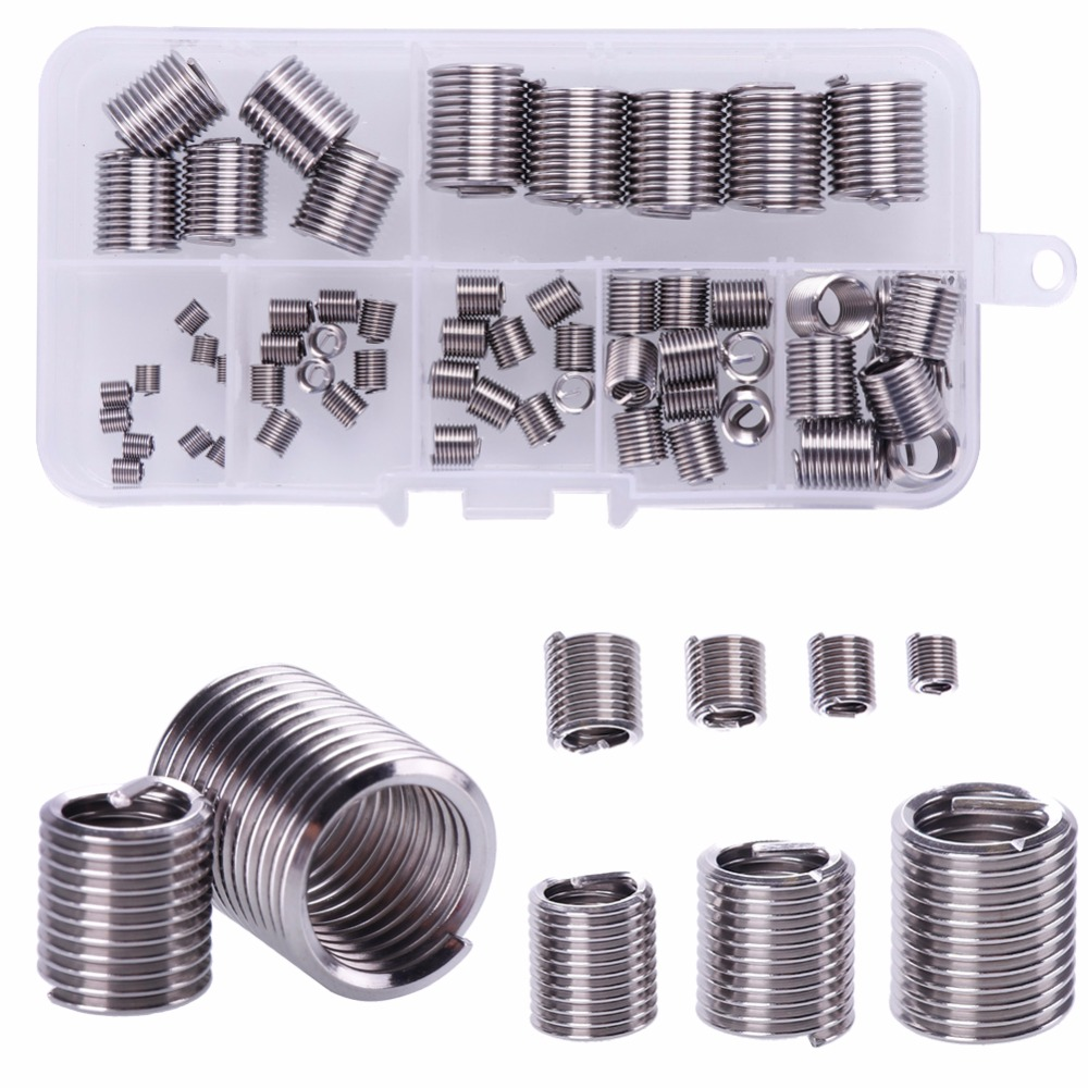 100pcs M6 x 1.0 Stainless Steel Helicoil Thread Insert Assortments Metric Coarse