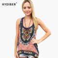 Ethnic Printed Sleeveless Women Blouses 2017 New Brand Spring Summer Casual Loose Sexy O Neck Woman Shirt Plus Size Tops