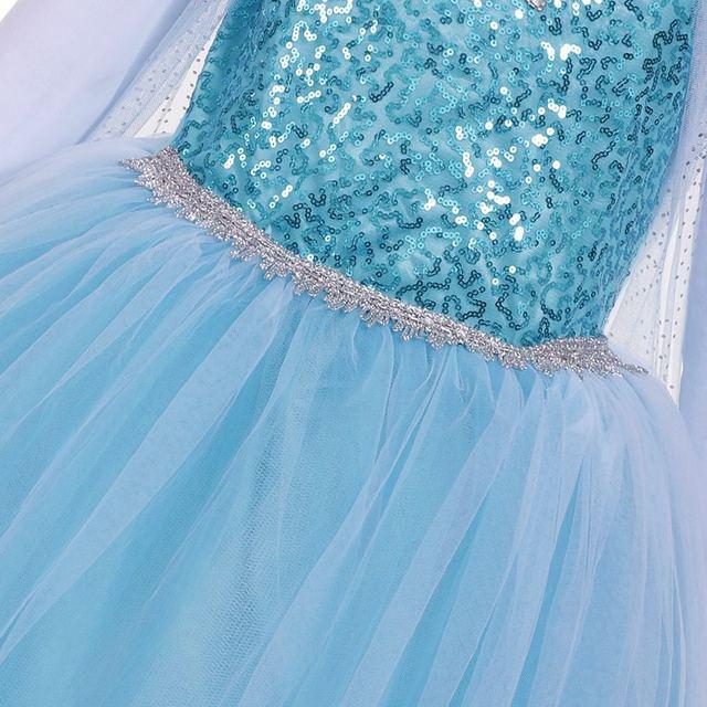 Online-Shop MUABABY Mädchen Elsa Kostüm Blau Schnee Königin ...