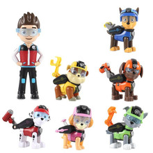 7 Pcs/Set Paw Patrol Dog Anime Figure Puppy Toy Action Model Patrulla Canina Children Toys Birthday Gifts