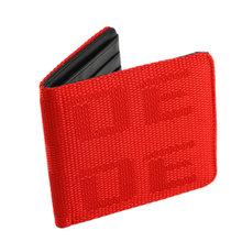 Jdm estilo tecido bolsa carteira gradation racing seat tecido lona caso chave de couro para brd