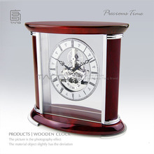 Fashion Hand-made Wood Clock Watches Red Color Piano Lacquer Quartz Watch Top Quanlity Gift Clock