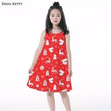 15d108062 Domi Ketty girls dress print Christmas tree elk snowflake kids cartoon  sleeveless vest dresses Party children · 5 Colors Available