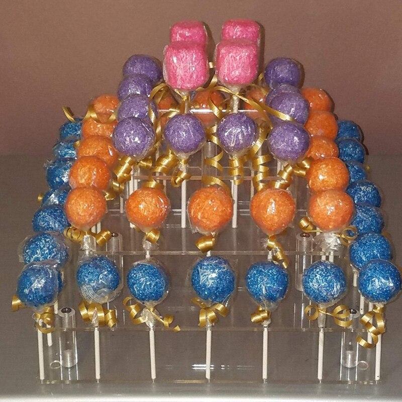 DIY Klare Acryl 4-Tier 35 Löcher Cake Pops Lutscher Halter Party Display Stand