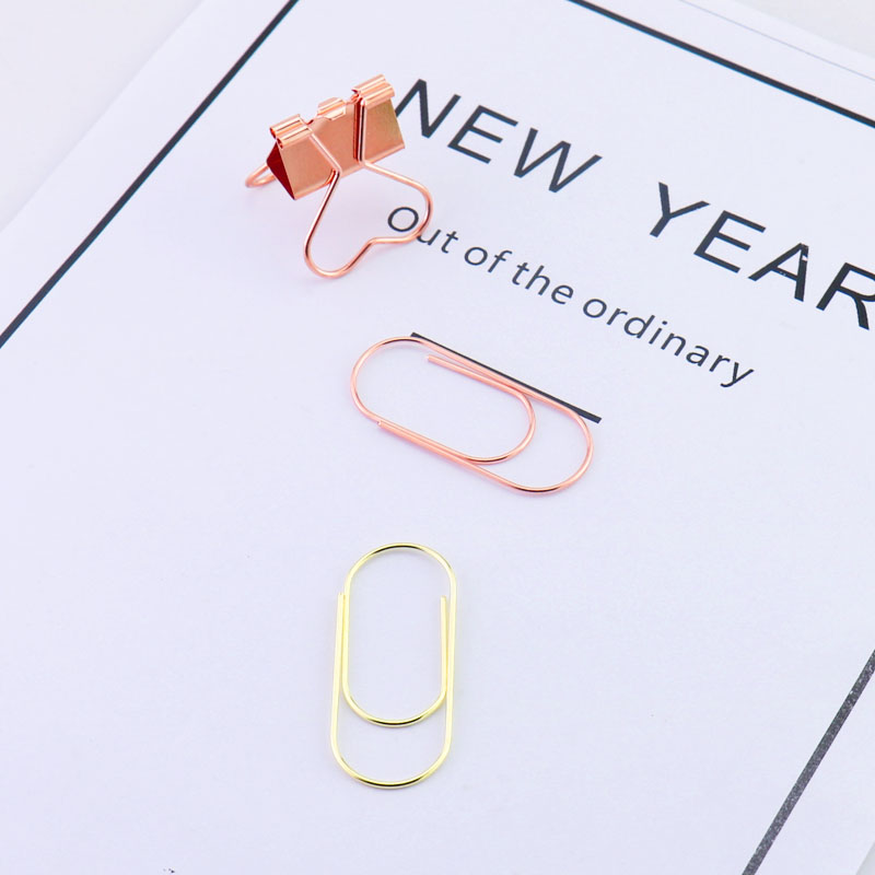 TUTU factory supply 25pcs/15pcs 50x20mm large size paper clips 5 colors available large wide paper clips on Promotion H0180 2