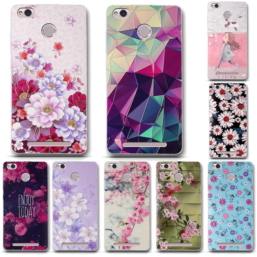 for Xiaomi Redmi 3S Cases Silicon Cover TPU Soft Back Cover Phone Case for Xiaomi Redmi 3S Luxury 3D Relief Printing Bag Fundas