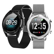 "DT28 גברים חכם שעון IP68 עמיד למים אק""ג קצב לב לחץ דם צג גשש כושר Smartwatch ספורט חכם צמיד"