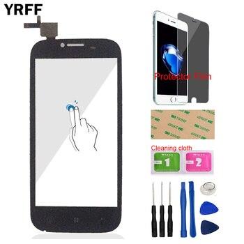 YRFF 4,5 ''teléfono móvil para Lenovo A706 A 706 pantalla táctil digitalizador Sensor cristal delantero Protector libre película adhesiva