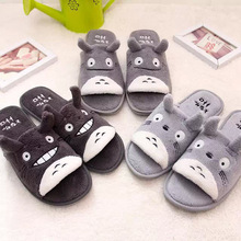 My Neighbour Totoro Coral Velvet Couple Indoor Slippers (Light Gray/ Dark Gray/ Black)