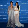 Kylie Jenner moda Kim Kardashian Sexy Vestido de La Celebridad 2017 2 Unidades Blanco y Acc Apliques de Encargo Del Partido Vestidos de la Alfombra Roja
