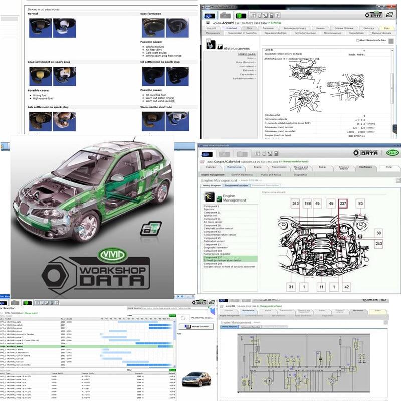 Newest Vivid Workshop Data 10.20 Maintenance Car Wire Diagram Car Service 10.2 Data Unitl 2010 Year Vivid Auto Repair Software