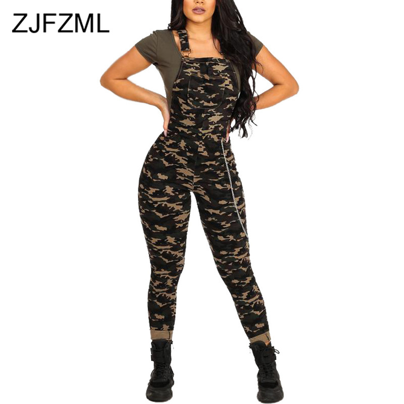 Camouflage Print Sexy Bodycon   Jumpsuit   Women Spaghetti Strap Backless One Piece Overall Casual Strapless Sleeveless Club Romper