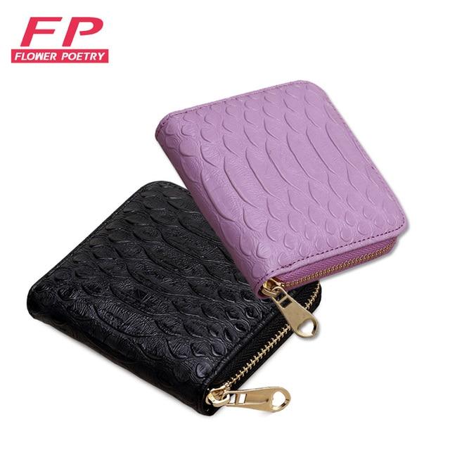 a8d27980fcc9a Kwiat poezji PU kobiet portfele kobiet małe portfele Mini zamek portfel dla  kobiet krótki portmonetka posiadaczy