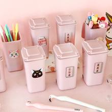 Student Pink Milk Pen Holder Pencil Case Kawaii Office Pen Pouch Child Storage Bags Cute Stationery Office School Supplies D20(China)