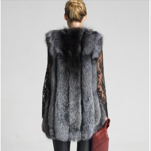 Vestes Survêtement Taille De Hiver Manteau Femmes Moelleux Et Gilet Fourrure Plus E803 Automne Pardessus La Faux Femelle Base Manteaux wqRPORB
