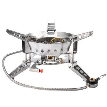 BULin BL100-B17 plegable dividida de la estufa de Gas portátil de Picnic 6800 W a prueba de viento estufas de Gas de cocina barbacoa al aire libre Camping Gas estufas
