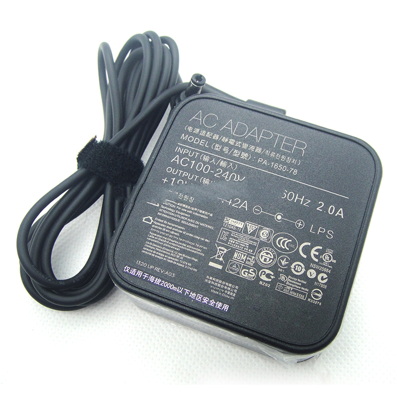 Genuine 65W Laptop Charger 19V 3.42A Power Supply for ASUS VivoBook S500 PA-1650-78 ADP-65GD B ADP-65AW A EXA1208UH AC Adapters