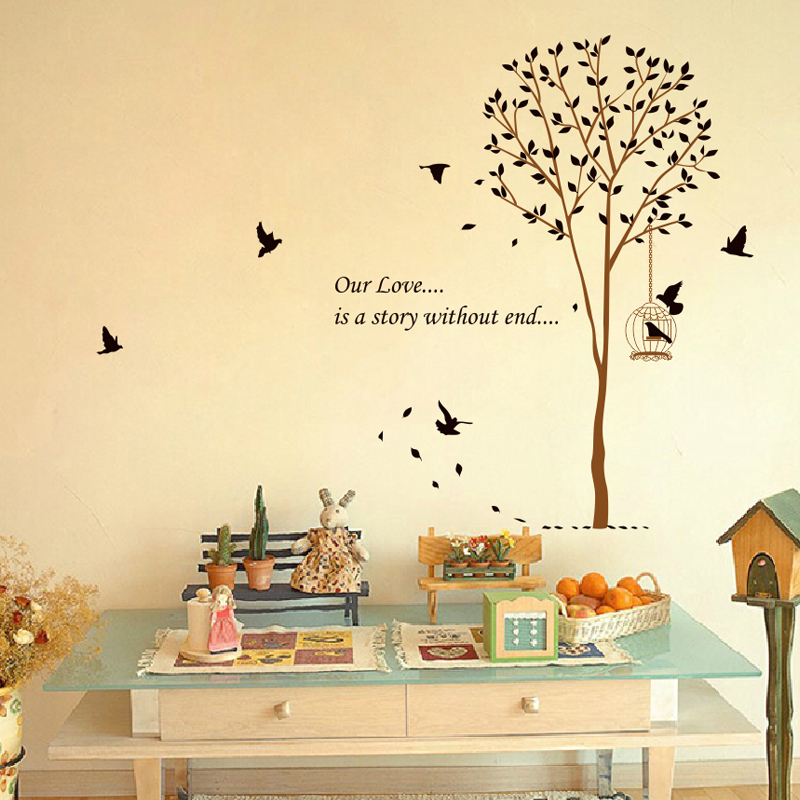 The Hot Bird Tree Large 3D Wall Stickers For Kids Room Decorations ...