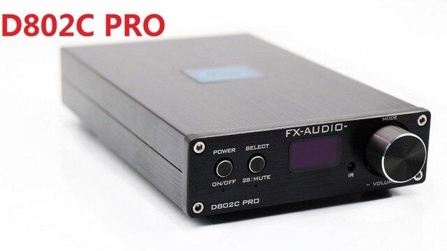2018 FX Audio D802C PRO 전체 디지털 앰프 BT@4.2 입력 USB/RCA/광/동축 입력 24Bit/192KHz 80W * 2 전원 어댑터 없음