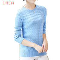 2015 NEW Cashmere Sweater Women Autumn Winter Knitted Ladies Long Sleeve O Neck 6 Color Cashmere